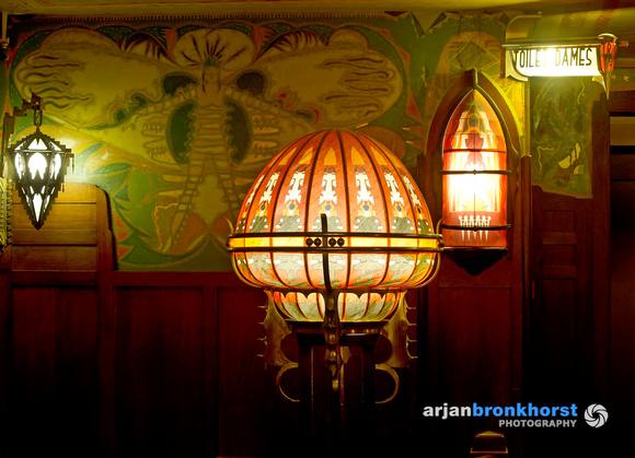 Verschillende lampen op de Vlindergalerij, foto Arjan Bronkhorst