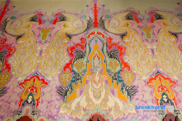 Wandschildering van Jaap Gidding in de Pauwenzaal, foto Arjan Bronkhorst